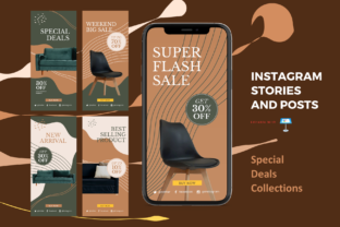 Print on Demand: Special Deals Instagram Stories and Post Graphic Presentation Templates By rivatxfz