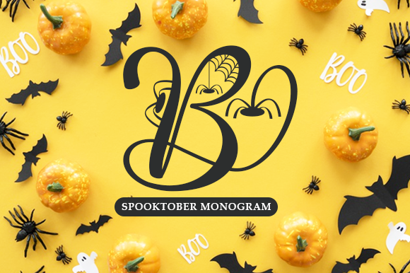 Print on Demand: Spooktober Monogram Decorative Font By utopiabrand19