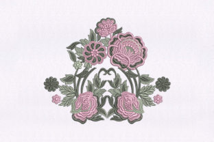 Subtly Flower Quilting Design Bedroom Embroidery Design By DigitEMB
