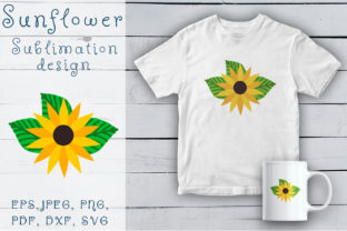 Print on Demand: Sunflower Sublimation Design Graphic Illustrations By OK-Design
