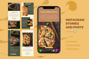 Print on Demand: Testimonial Instagram Stories and Posts Graphic Presentation Templates By rivatxfz
