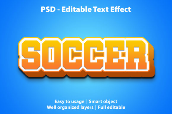 Text Effect Soccer Premium Graphic Graphic Templates By yosiduck