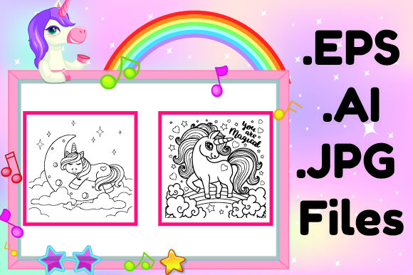 Print on Demand: Unicorn Activity Book for Kids Kdp Graphic KDP Interiors By KDP_Interior_101