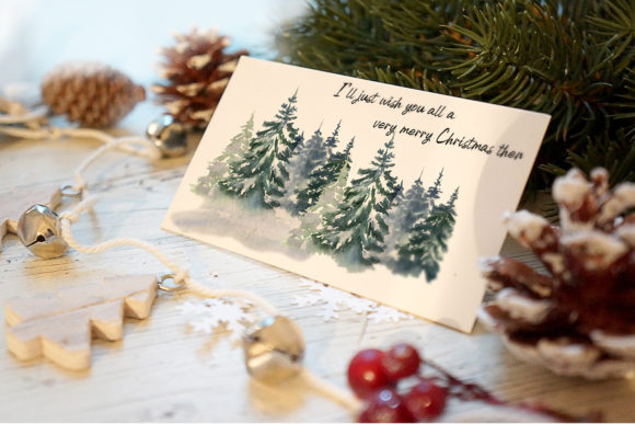 Watercolor Christmas Clipart Scene Creat Graphic Image