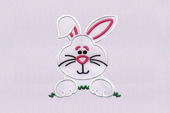White Bunny Rabbit Woodland Animals Embroidery Design By DigitEMB