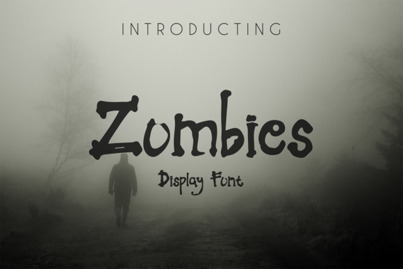 Print on Demand: Zombies Display Font By hadjarcreative