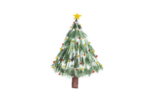 Decorated Christmas Tree Christmas Craft Cut File By Creative Fabrica Crafts
