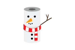 Toilet Paper Snowman Winter Craft Cut File By Creative Fabrica Crafts