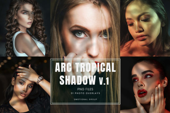 Print on Demand: 31 Arc Real Tropical Shadow Overlays Graphic Textures By 3Motional