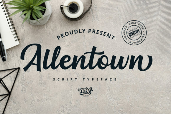 Print on Demand: Allentown Script & Handwritten Font By nurfdesigns
