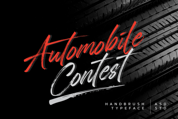 Print on Demand: Automobile Contest Script & Handwritten Font By Asd Studio