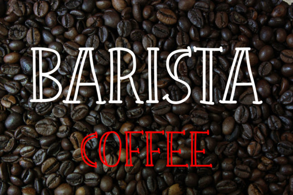 Print on Demand: Barista Coffee Display Font By Vladimir Carrer