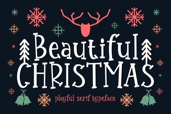 Print on Demand: Beautiful Christmas Serif Font By Keithzo (7NTypes)