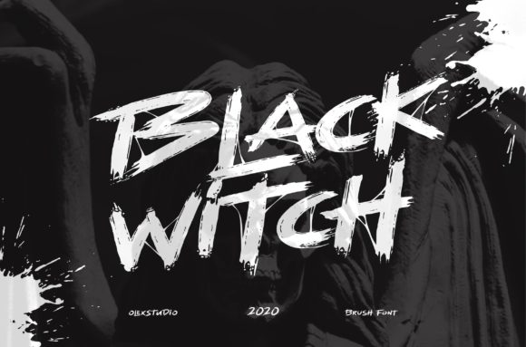 Print on Demand: Black Witch Display Font By Olexstudio