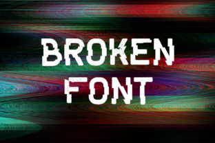 Print on Demand: Broken Display Font By OWPictures