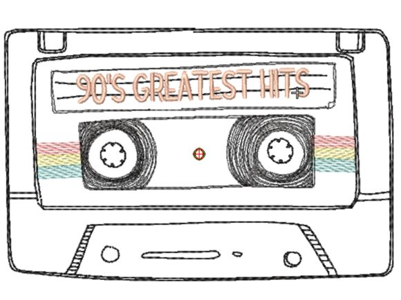 Cassette Doodle Travel Quotes Embroidery Design By carasembor