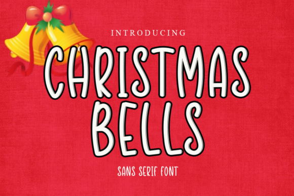 Print on Demand: Christmas Bells Script & Handwritten Font By gunawanletter