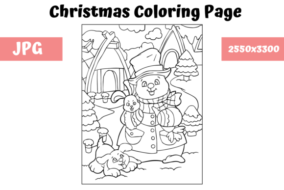 - Christmas Coloring Page For Kids - 30 (Graphic) By MyBeautifulFiles ·  Creative Fabrica