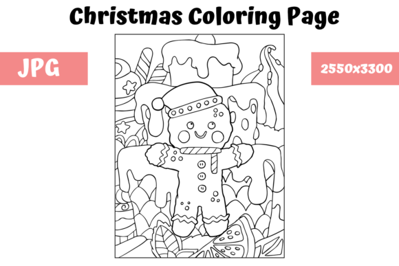 Print on Demand: Christmas Coloring Page for Kids - 30 Graphic Coloring Pages & Books Kids By MyBeautifulFiles