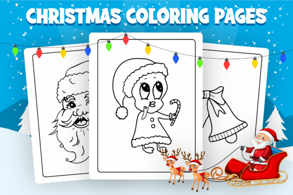 Christmas Coloring Pages - KDP Interior Graphic Item