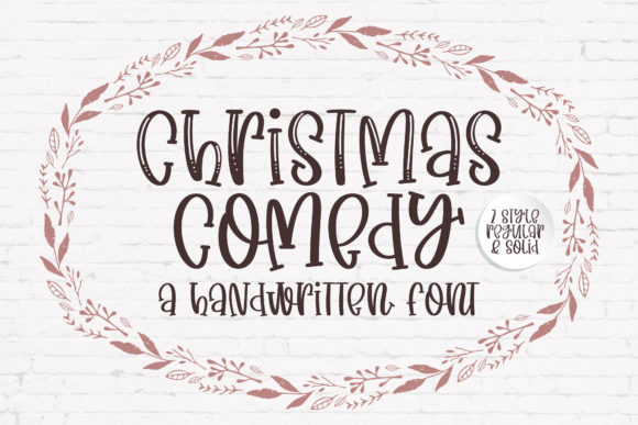 Print on Demand: Christmas Comedy Script & Handwritten Font By BitongType