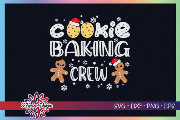 Christmas Cookie Baking Crew Gingerbread Graphic Print Templates By ssflower