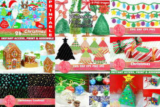 Christmas Crafts, 14 DIY Projects Bundle Graphic Crafts By paperart.bymc