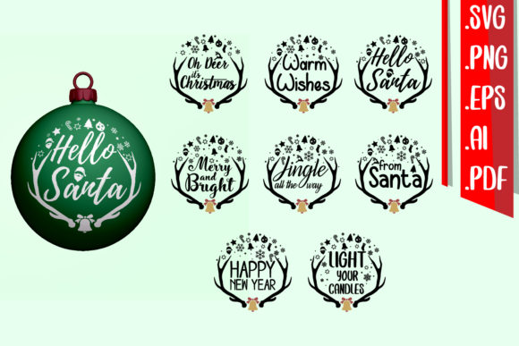Christmas Deer Text Rounded Graphic Crafts By assalwaassalwa