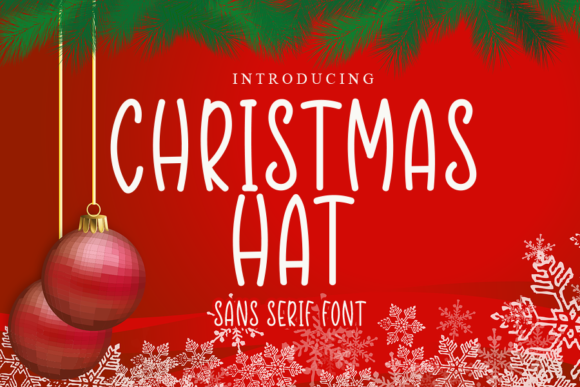 Print on Demand: Christmas Hat Script & Handwritten Font By gunawanletter