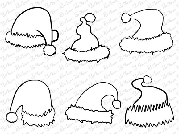 Christmas Hats Graphic Illustrations By PurMoon
