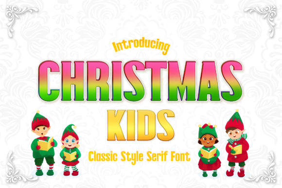 Print on Demand: Christmas Kids Serif Font By numnim