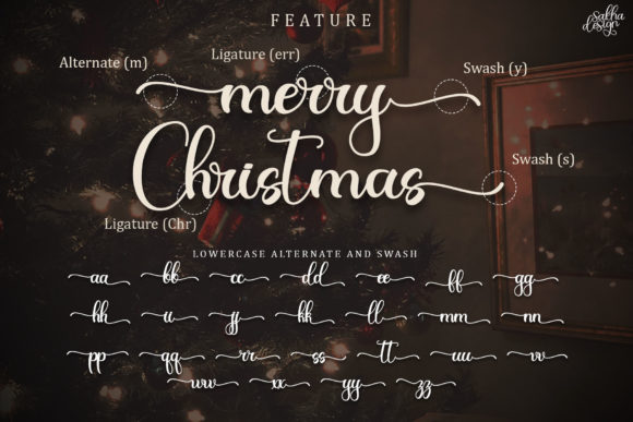 Christmas Night Font Downloadable Digital File
