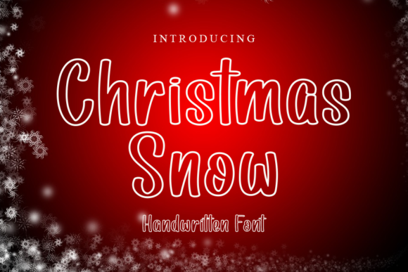 Print on Demand: Christmas Snow Display Font By gunawanletter