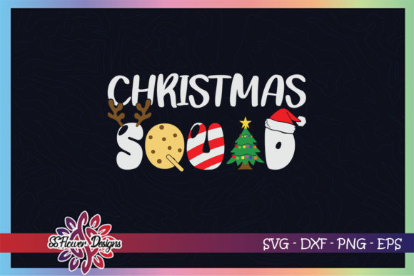 Christmas Squad Xmas Tree Cookies Graphic Print Templates By ssflower