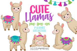 Print on Demand: Cute Llamas Graphic Illustrations By DigitalPapers