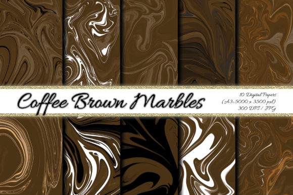 Digital Paper Coffee Brown Background Graphic Backgrounds By PrisonerRabbit