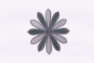 Fanned out Flower Design Bedroom Embroidery Design By DigitEMB