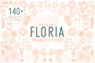 Print on Demand: Floria Dingbats Font By Kelik - 7NTypes
