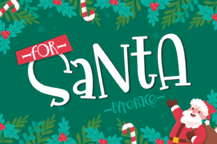 Print on Demand: For Santa Display Font By Dani (7NTypes)