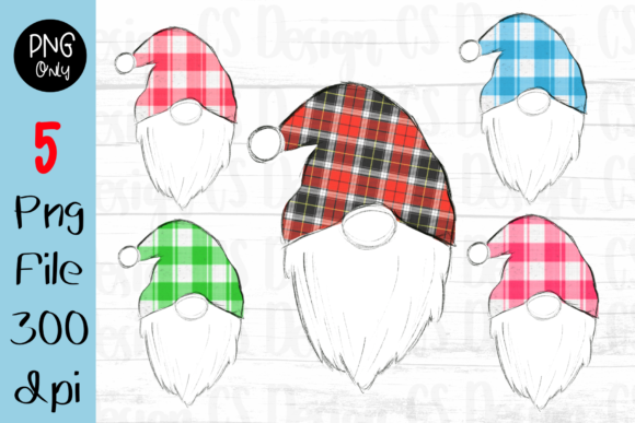 Print on Demand: Gnomes Christmas  Sublimation Graphic Gráfico Crafts Por CSDesign