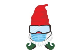 Print on Demand: Gnomes in Winter Wear Mask Clip Art Graphic Crafts By Arief Sapta Adjie