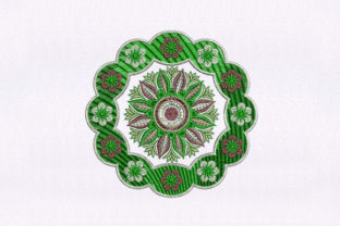 Green Quilting Design Bedroom Embroidery Design By DigitEMB