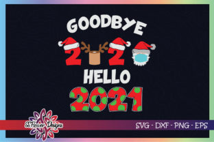 Happy New Year 2021 Reindeer Face Mask Graphic Print Templates By ssflower