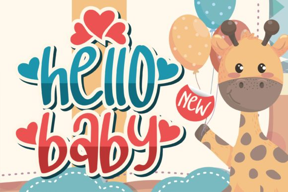 Print on Demand: Hello Baby Display Font By letterenastudios