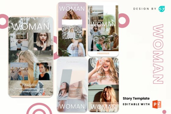 Instagram Stories Template - Woman Graphic Presentation Templates By 57creative