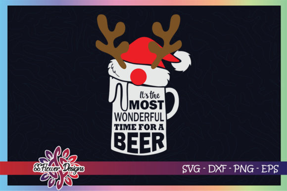 It's the Most Wonderful Time for a Beer Graphic Print Templates By ssflower