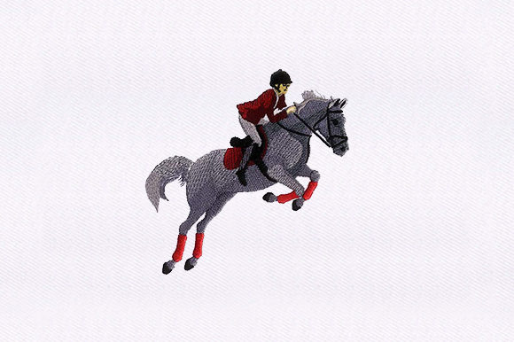 Jockey Horse Design Horses Embroidery Design By DigitEMB