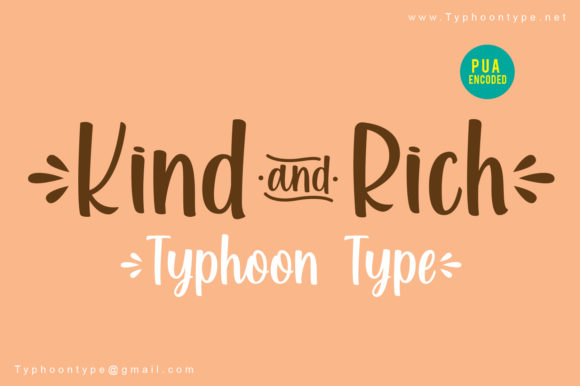 Print on Demand: Kind and Rich Script & Handwritten Font By Typhoon Type - Suthi Srisopha