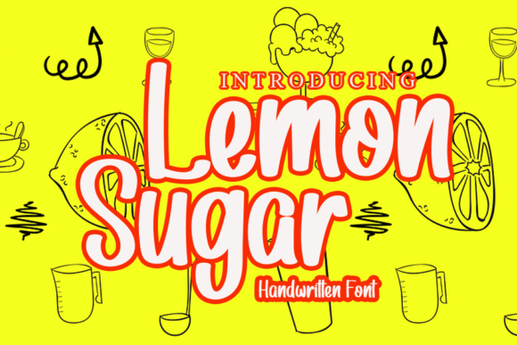 Print on Demand: Lemon Sugar Display Font By gunawanletter