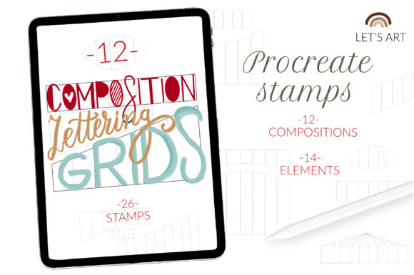 Lettering Grids Procreate Stamps Builder Graphic Brushes By cyrilliclettering